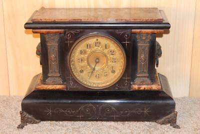 Antique Seth Thomas Adamantine 8 Day Mantle Clock ~ 1890's ~ Serviced & Running
