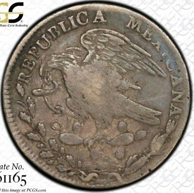 Mexico 1824 HOOK-NECK 8 Reales MO JM PCGS Certified Silver Scarce Mexican Coin