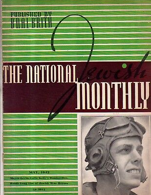 1942 National Jewish Monthly May - War heroes;Max Nordau;How strong is Jew hate?