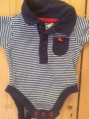 Baby M & Co Short Sleeved Collared Vest, 3-6 Mths