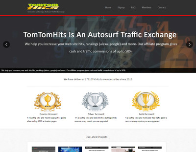 The Best AutoSurf Website for sale traffic exchange Free hosting 300+ members