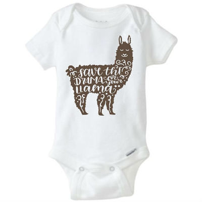 Save the drama for your Llama Baby Onesie