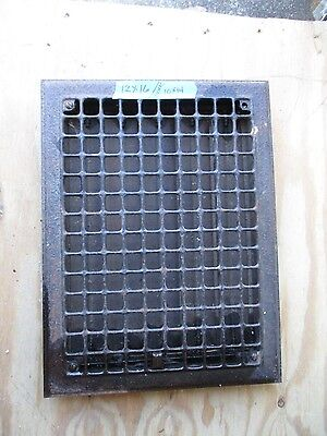 Vintage Floor / Wall Heat Register Metal Vent  Antique Grate  Louvers 12 x 16