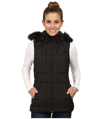The North Face Womens Gotham Vest Hooded Insulated 550 Down Black Size M New