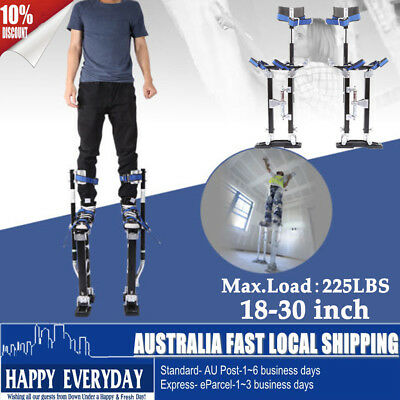 "18-30"" Adjustable Aluminum Plastering Stilts Drywall Tools Painter Builders Dual"