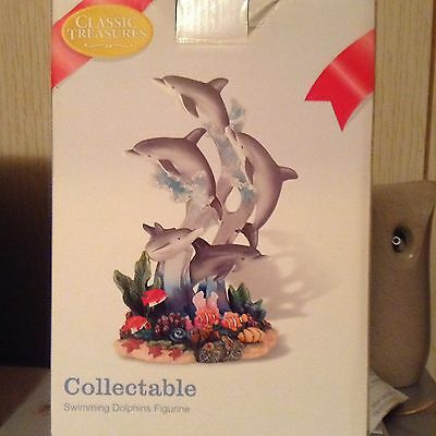 Classic Treasures Swimming Dolphin Figurine Collectible – New
