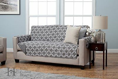 Pet Couch Covers For Furniture Sofa Reversible Protector Cat Dog Slipcover  Gray