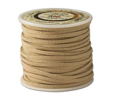 """Tandy Leather Eco-Soft Lace 1/8"""" x 25 yds (3 mm x 22.9 m) Beige 5029-05"""