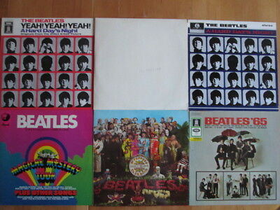 The Beatles  6 LPs   White Album, Magical Mystery Tour, Beatles '65, Sgt.Peppers