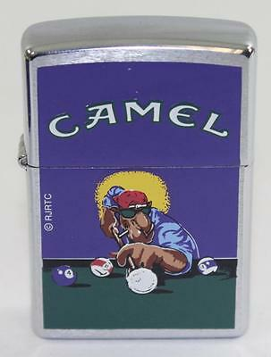 Vintage 1997 Camel Shooting Pool Zippo Lighter
