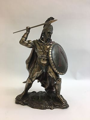 King Leonidas Greek Warrior of Sparta Bronze Statue by Unicorn Studios WU76534B4