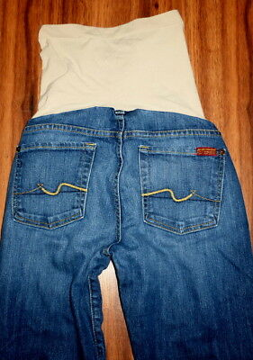 7 For All Mankind Bootcut A Pea In The Pod Full Panel Maternity Jeans Size 29