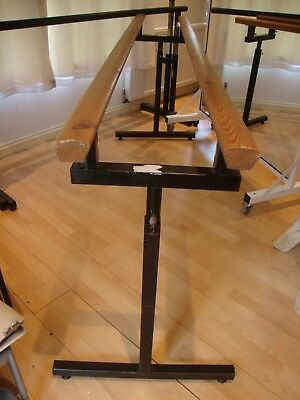 Portable Ballet Barre - Black Metal and Wooden Tops - 2m long per barre
