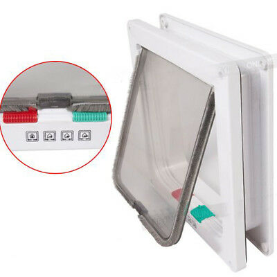 Dog Door Flap Pet Mate Cat 4 Way Locking Lockable Entry Exit Puppy