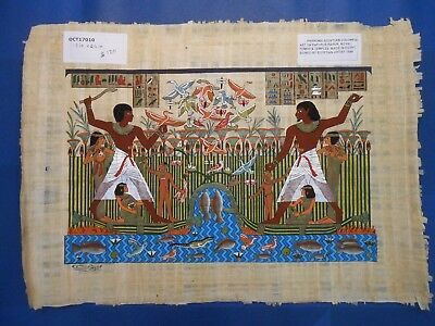 Egyptian Papyrus Paper Pharonic Art Royal Temples Tombs, Artist signed OCT17010