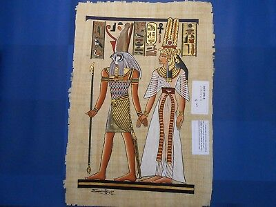 Egyptian Papyrus Paper Pharonic Art Royal Temples Tombs, Artist signed OCT17015