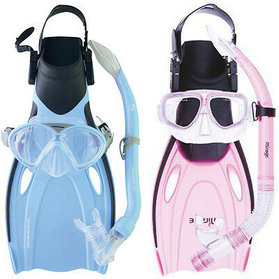 Mirage Squirt KIDS SET Includes Flipper Fins Snorkel Mask
