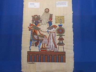 Egyptian Papyrus Paper Pharonic Art Royal Temples Tombs, Artist signed OCT17013