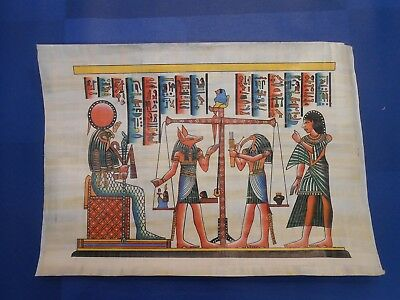 Egyptian Papyrus Paper Pharonic Art Royal Temples Tombs, Artist signed OCT17044
