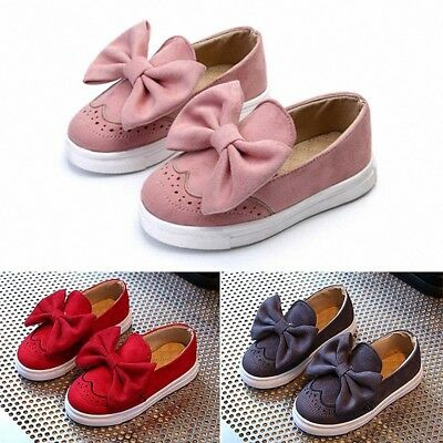 Kids Girl Shoes Bow Princess Children Girl Flats Dance Party Casual Shoes US8~10