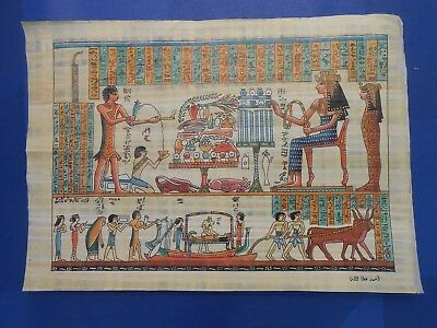 Egyptian Papyrus Paper Pharonic Art Royal Temples Tombs, Artist signed OCT17042