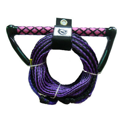 "Riders Inc Water Ski Kneeboard Tow Rope with EVA 13"" Handle PURPLE/PINK"