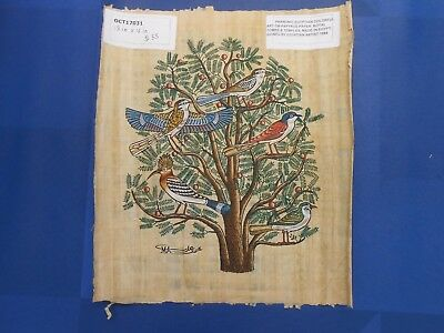 Egyptian Papyrus Paper Pharonic Art Royal Temples Tombs, Artist signed OCT17031