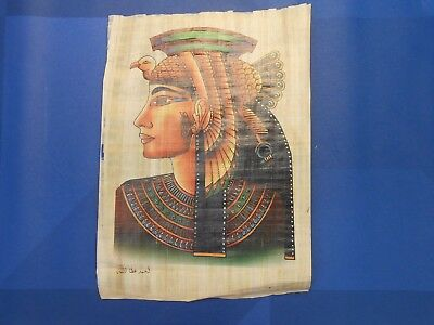 Egyptian Papyrus Paper Pharonic Art Royal Temples Tombs, Artist signed OCT17045