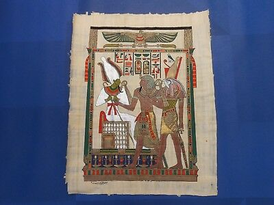 Egyptian Papyrus Paper Pharonic Art Royal Temples Tombs, Artist signed OCT17029