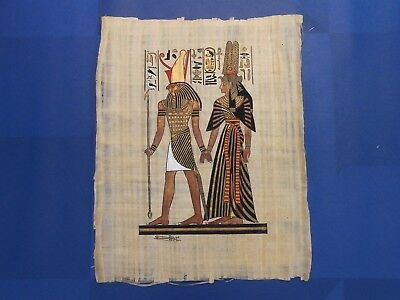 Egyptian Papyrus Paper Pharonic Art Royal Temples Tombs, Artist signed OCT17030