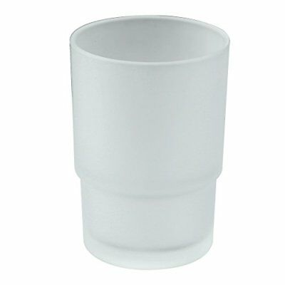 Frosted Glass Tumbler Thick Cup Replacement for Toothbrush Toothpaste Holder