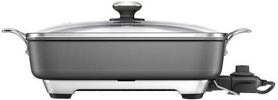 Breville Thermo Pro Banquet Diecast AL Electric Frypan 2400W BEF460GRY