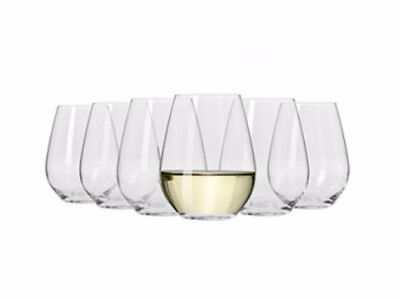 KR Vinoteca Stemless White Wine 400ML Set of 6 Gift Boxed