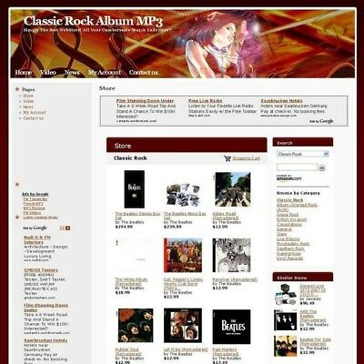 Online Classic Rock MP3 Store Business Website For Sale! High Potential Income!