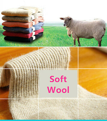 6 Pairs Lot Infants Baby Kids Boy/Girls Wool Cashmere Warm Soft Solid Socks 0-6Y