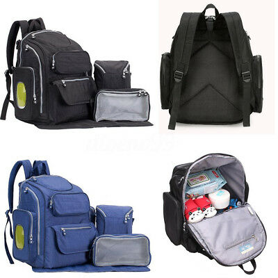 AU Large Baby Nappy Diaper Backpack Mummy Bag Maternity Women Handbag Organizer