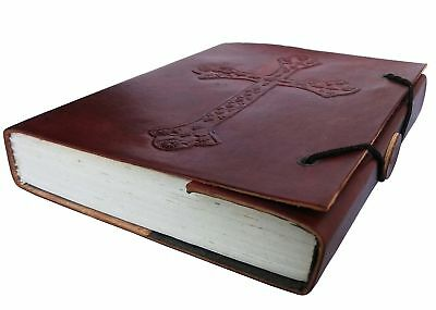 Leather Journal Travel Diary Handmade Vintage Bound Notebook For Men & Women ...