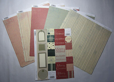 "25 Scrapbooking Australia Red & Green Christmas 12""x12"" Paper & Journal Blocks"