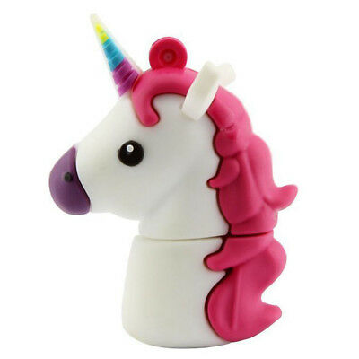 16GB 32GB Pendrive Cartoon Unicorn Animal Model USB Flash Drive Memory U Disk