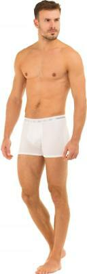 Haigman Mens Underwear Multipack Two Pack Polycotton Stretch White Boxer Shorts