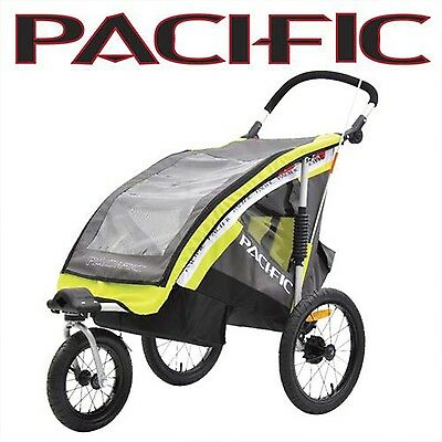 Pacific 2in1 SINGLE Bike Trailer Pram Stroller Jogger With Suspension PTS2i1