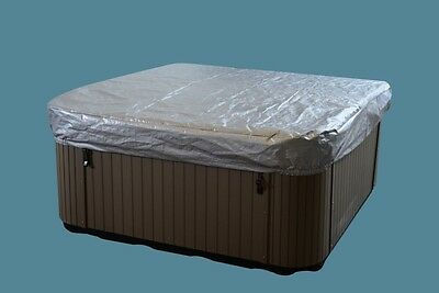 hot tub cover guard cap round corners and measuring 87.5 inches x 87.5 inches