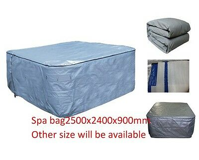 Winterwise! Insulated UV Weatherproof HOT TUB SPA COVER BAG 2.5m x 2.4m