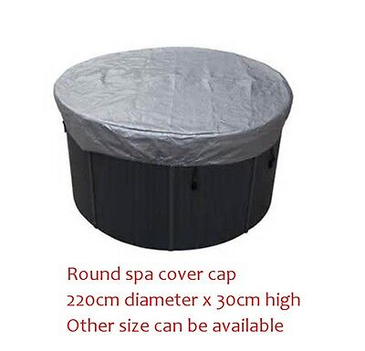 Winterwise! Round spa cover cap 86.6 inch 220cm diameter 12 inch 30cm high