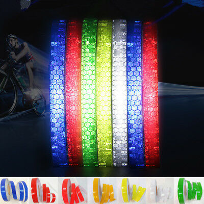 Car Bicycle Reflective Tape Safety Warning Conspicuity Self Adhesive Sticker