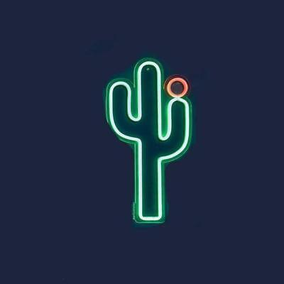 Sunnylife Vegas Cactus LED Neon Wall Light