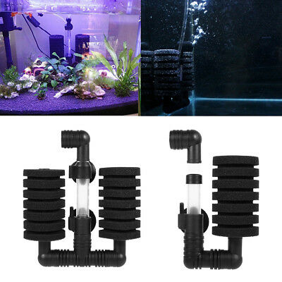 Hot Aquarium Fish Tank Biochemical Sponge Filter Air Pump With Suction Cup New