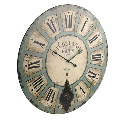 60cm Shabby Chic Wall Clock bedroom, dining room, kitchen Decoration Accurate