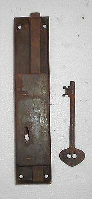 Vintage Big Iron Door Lock & Key Collectible from India Bt156