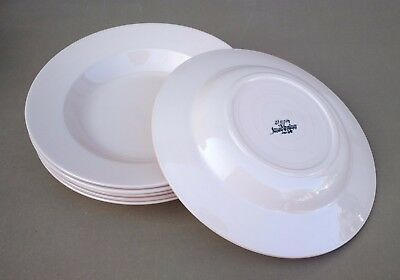 6 assiettes creuses DIGOIN rose ancienne vintage table french dishes soup #1